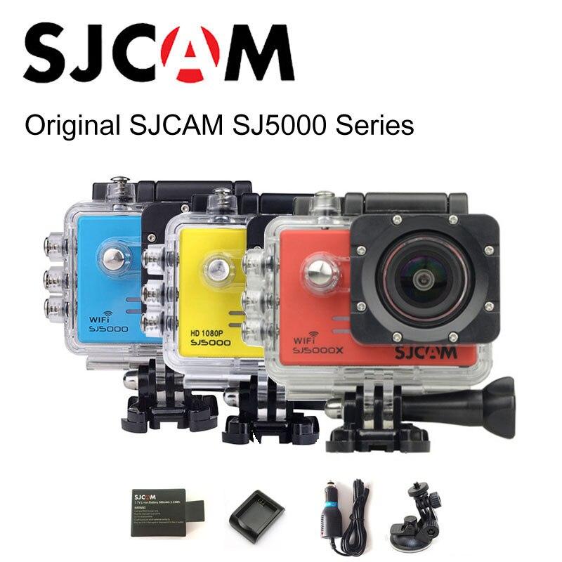 Original SJCAM SJ5000 & SJ5000 WiFi & SJ5000X Elite 4K Sports Action Camera +Extra 1pcs Battery + Charger + Car Charger + Holder