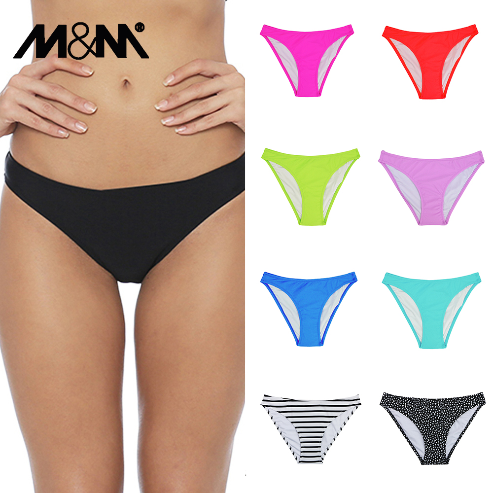 Women Swimwear Bikini Bottoms Sport Shorts Pants Separates Sexy Beach Solid B608 Two-Piece