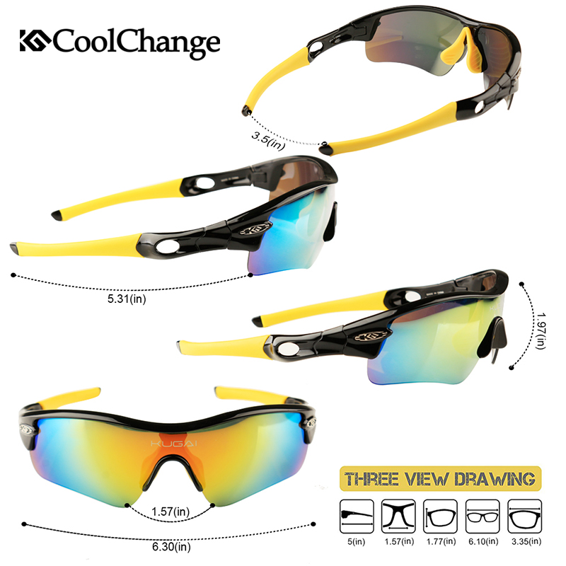 CoolChange Biciklističke naočale Polarizirane sunčane naočale - Biciklizam - Foto 2