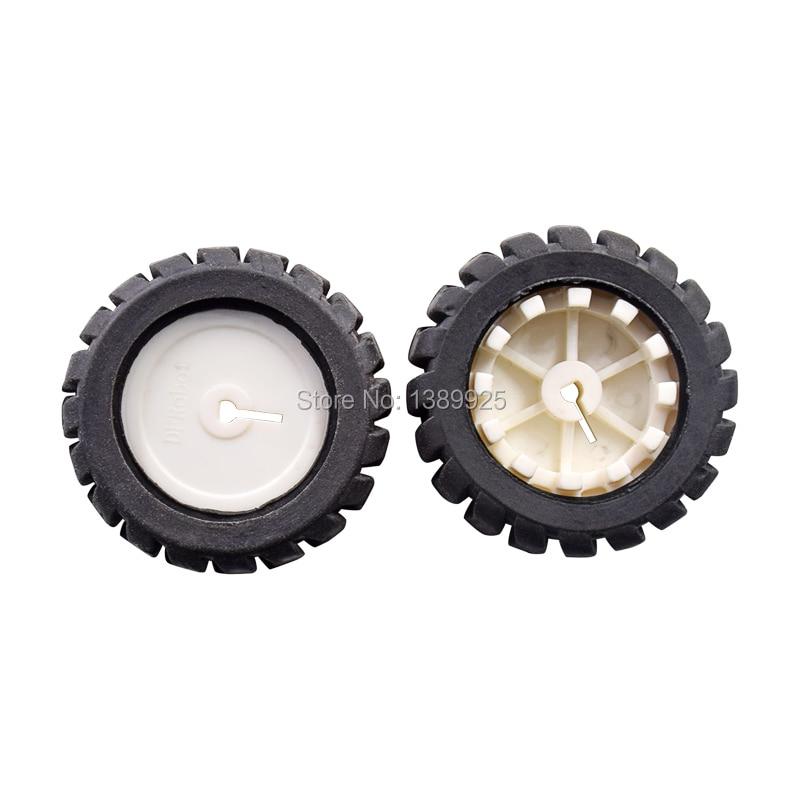 MiniQ Car N20 Motor 42mm Rubber Tire 12 Line Encoding 3pi Intelligent Car Wheels TT Motor Wheel