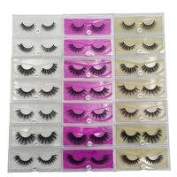 SHIDISHANGPIN 30 boxes 3d mink lashes natural long 3d mink eyelashes 1cm 1.5cm eyelash extension natural long 30 pairs eyelashes