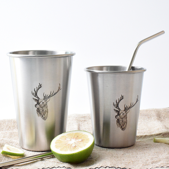 500 ml Stainless Steel Metal Juice Mug