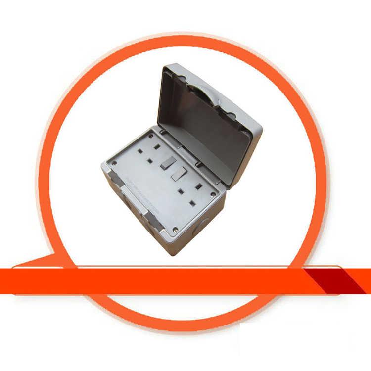Nowy IP66 wodoodporne gniazdo w wielkiej brytanii na świeżym powietrzu wodoodporny przełącznik gniazdo darmowa wysyłka