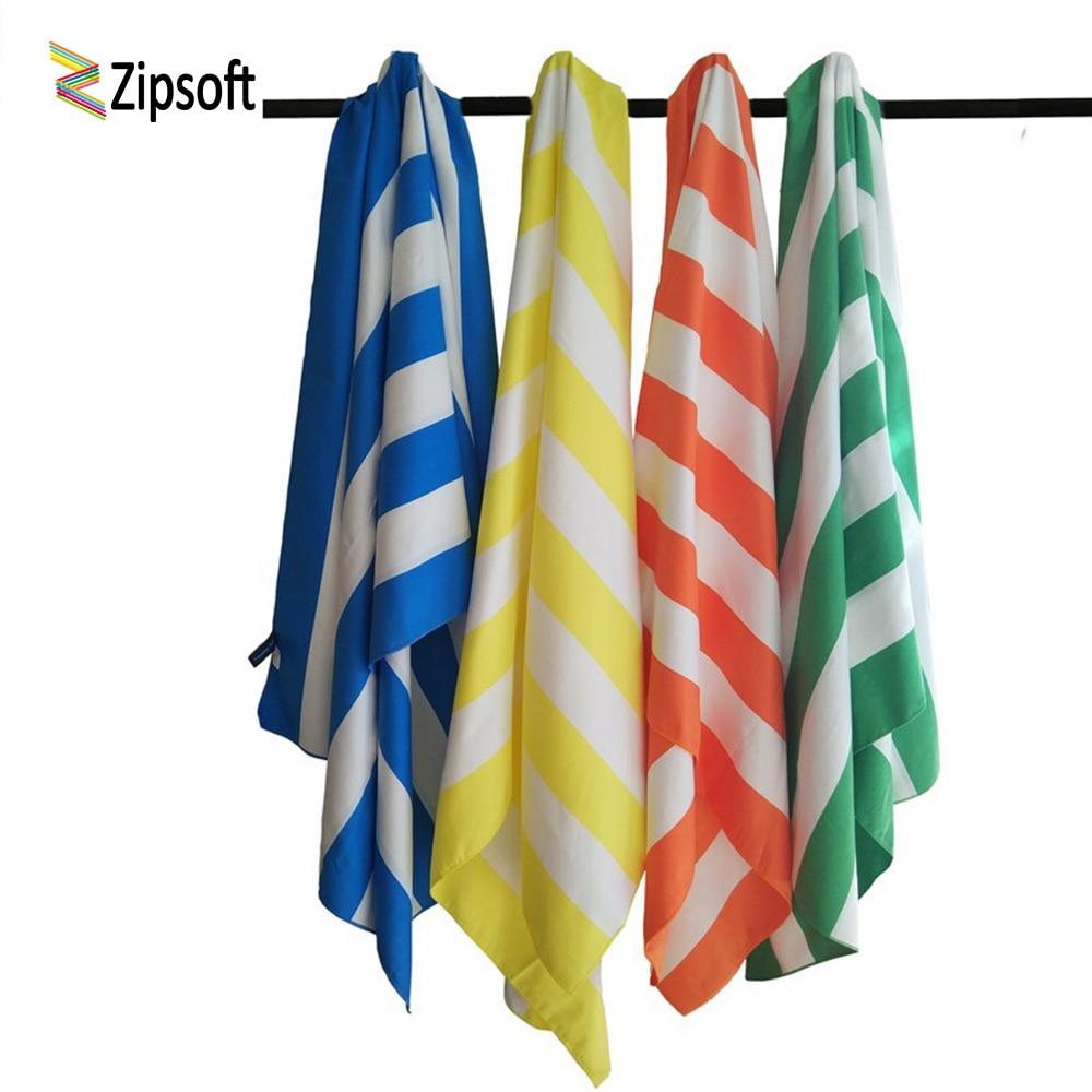 Zipsoft Toalla de playa grande 85 * 200 cm Toallas de microfibra - Ropa deportiva y accesorios