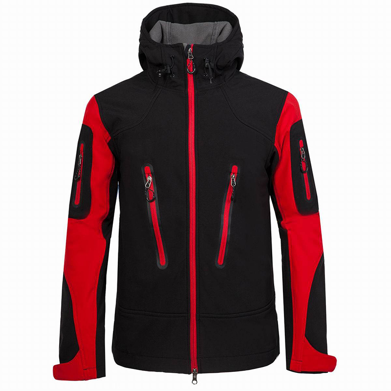 Softshell Jacket Men Outdoor Windproof Men's Jackets Hooded Tactical Jacket Winter Hiking Hunting Clothes For Snow Skiing Coats-in Hiking Jackets from Sports & Entertainment    1