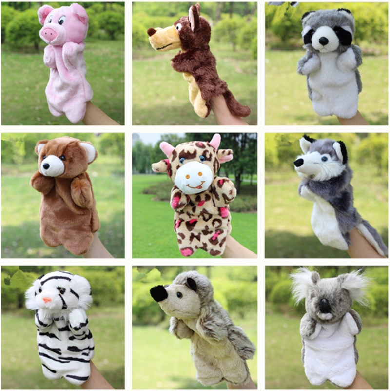 Animal Glove Puppets Doll Toys Cat Monkey Dog Rabbit Hand Puppet Plush Puppets Toys For Kids Fantoche 2017ailang luxury brand new ultra thin automatic mechanical watches is simple and stylish men watch sapphire watch steel