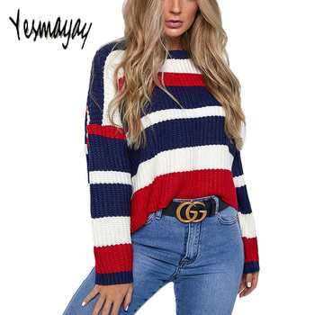 Oversize Casual Striped Sweater