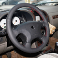 Black Artificial Leather DIY Hand-stitched Steering Wheel Cover for Citroen Elysee c-elysee Citroen Xsara Picasso