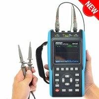 All sun Digital Oscilloscope 25 100MHz 100M 1GSa/s 2CH + 6000 Counts DMM Handheld Portable Waveform USB LCD Backlight EM1230