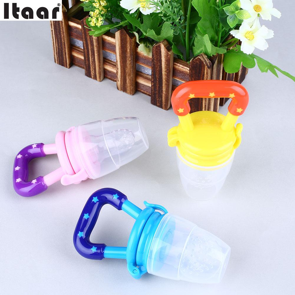 Baby Nipple Random Color Fresh Food Milk Pacifier Dummy Soother Nibbler Feeder Feeding SML Size