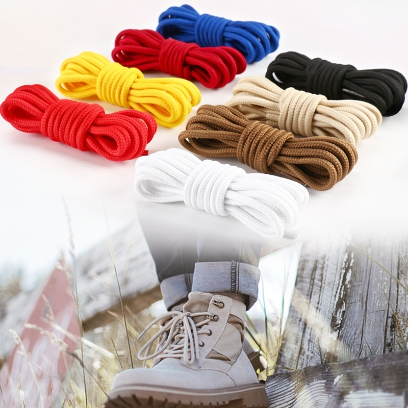 2pcs/lot Round Shoelaces Polyester Solid Classic Martin Boot Shoelace Casual Sports Boots Shoes Lace 90cm/120cm/150cm F083