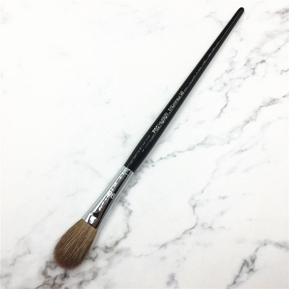 High End #98 про хайлайтер кисточка для макияжа козьей шерсти черная длинная ручка большой блендер для век Make up Brush