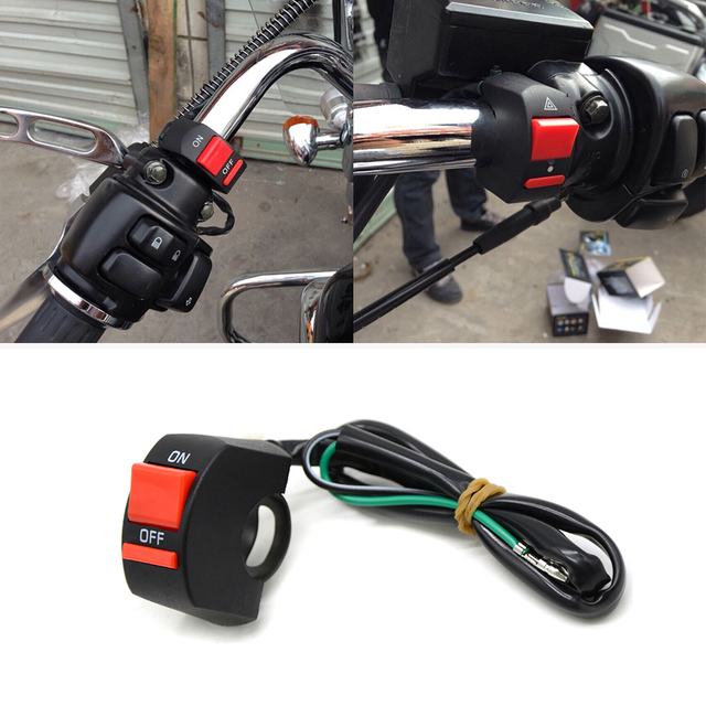 For Honda CB CBR 300 599 600 600F 1000 1000R 1100 650F Motorcycle Handlebar Switch ON/OFF Button 12V Headlamp Switch