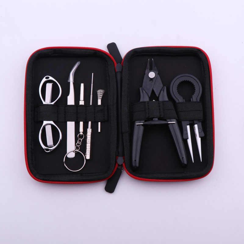 XFKM X9 Mini Vape DIY инструмент сумка щипцы-пинцет провода комплект нагревателей катушки джиг обмотки для упаковки электронных сигарет аксессуары