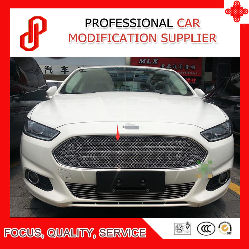 High quality Stainless steel modification car front grille racing grills grill cover for Mondeo 2013