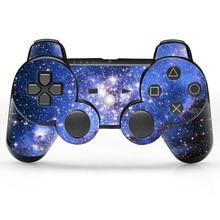 2 pcs Designer de Gordura Da Pele para PS3 para PS3 Slim Controlador Gaming Controle Remoto Adesivo Decalque