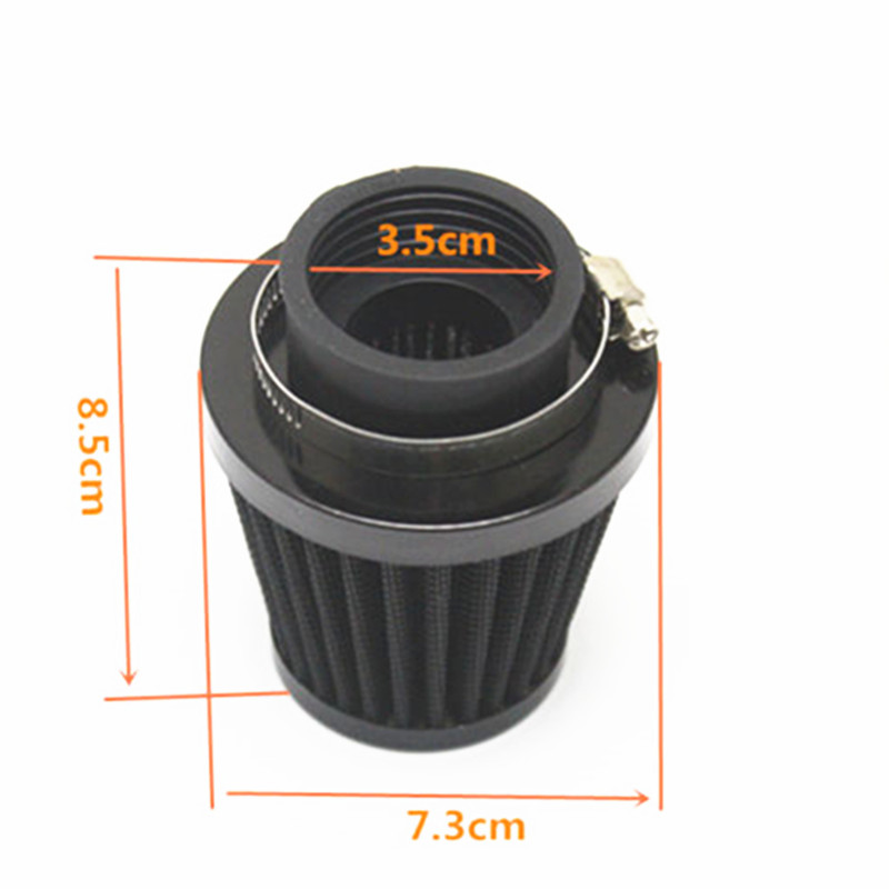 35mm 38mm 40mm 42mm 48mm 50mm 52mm 54mm 60mm Black Motorcycle Air Filter Clamp-on Air Filter Cleaner ATV Quad For Honda Yamaha Pakistan