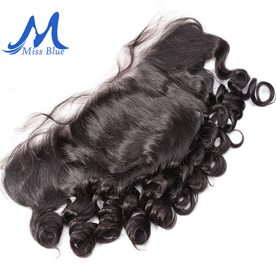 Missblue Lace Frontal Closure With Baby Hair 13X4 Ear To Ear Pre Plucked Brazilian Loose Wave