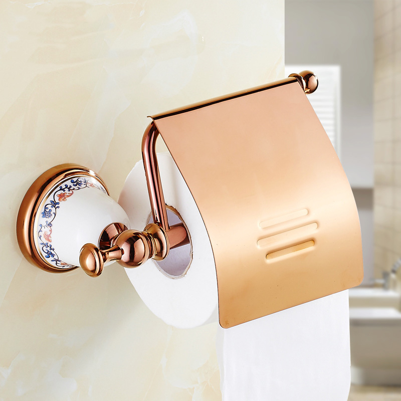 2 Style Antique brass toilet paper holders shelf gold plated, Retro bathroom/kitchen tissue paper holder Copper roll paper rack retro kitchen toilet paper holder roll tissue holder bathroom accessories antique brass wall mount eu stock