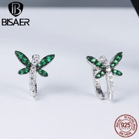 Hot Sale Genuine 925 Sterling Silver Dragonfly Whispers CZ Stud Earrings For Women Sterling Silver Fine