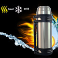 2500ML Travel Thermos Vacuum Stainless Steel Cup Thermos Flask Water Bottle  Big Mouse Warmer  Vacuum Top Quality  Free Shipping