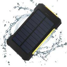 Солнечный Запасные Аккумуляторы для телефонов Водонепроницаемый/противоударный/пыле 10000 мАч Зарядное устройство Dual USB с светодиодные SOS для мобильного телефона