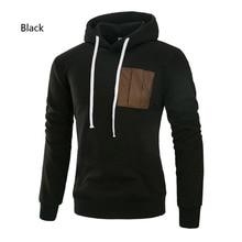 John'sBakery Brand 2019 Hoodies Brand Men Pocket Design Sweatshirt Male Hoody Movement Autumn Winter Zipper Hoodie Mens Pullover ombre topstitched pocket design hoodie