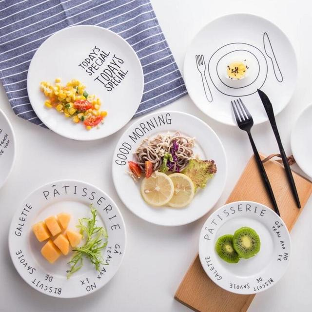 8inch Size Round Shape European Style Fruit Salad Cake Breakfast Ceramic Dinner Plate  sc 1 st  AliExpress.com & 8inch Size Round Shape European Style Fruit Salad Cake Breakfast ...