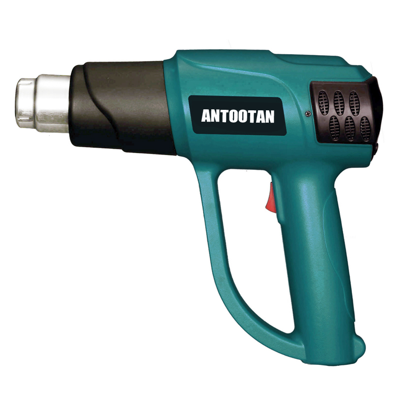 Tools : 2000W 220V EU Plug Smart Control  Industrial Heat Gun Shrink Wrapping Heater Nozzle Thermoregulator LCD Display Hot Air