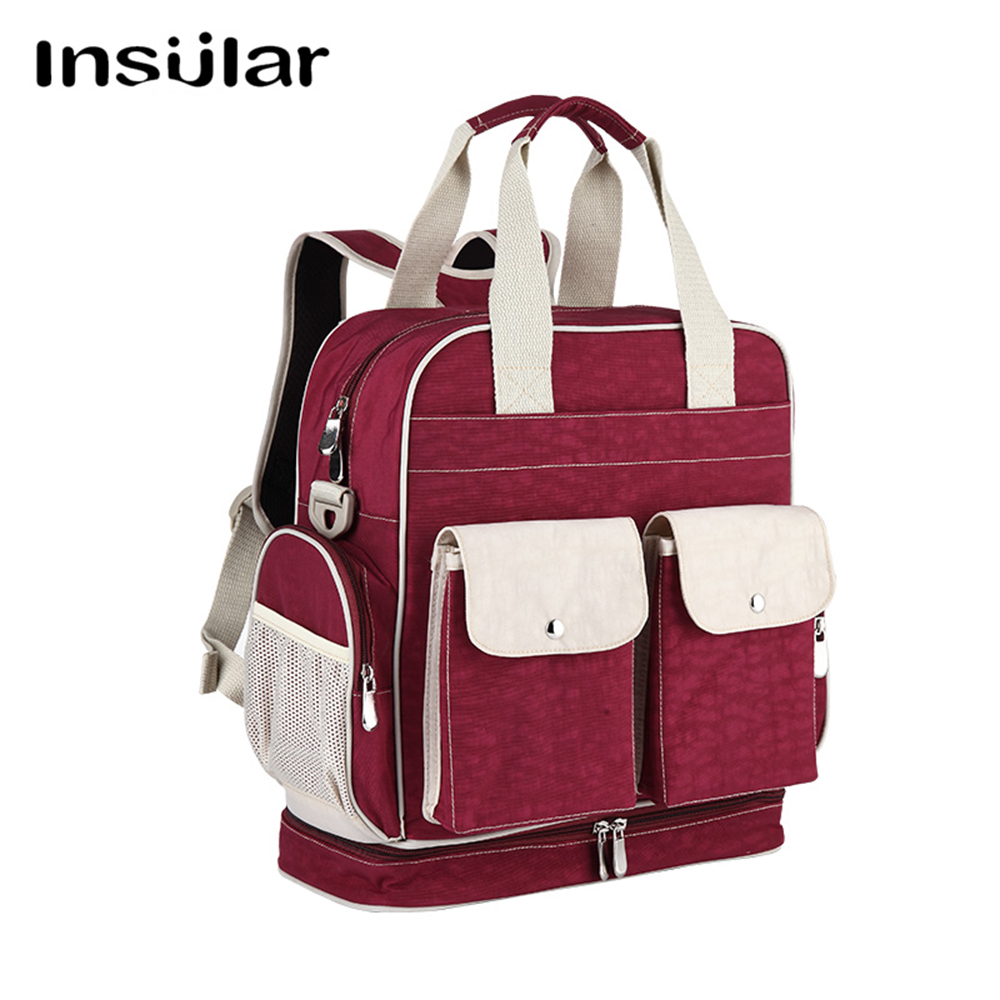 INSULAR Diaper Bag Baby Nappy Changing Bags Large Capacity Maternity Mummy Diaper Backpack Stroller Bag все цены