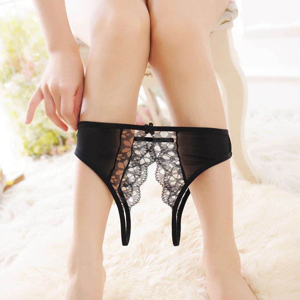 Hot Sale Women  Lace Thongs And G Strings Sexy Panties Transparent Hollow Low Waist Lace Thong Underwear