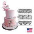 3PCS/SET Rose Decorating Stencil for Wedding Cake Decoration Airbrush Stencil Cake Plastic Template Fondant Tools DIY Bakeware