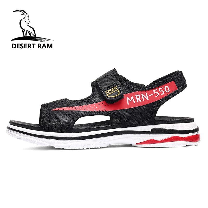 DESERT RAM Brand INS Hot Sale Lovers Sandals Fashion Shoes Men Casual Band High Top Summer Mesh Black Sandalias Beach Mens Shoe