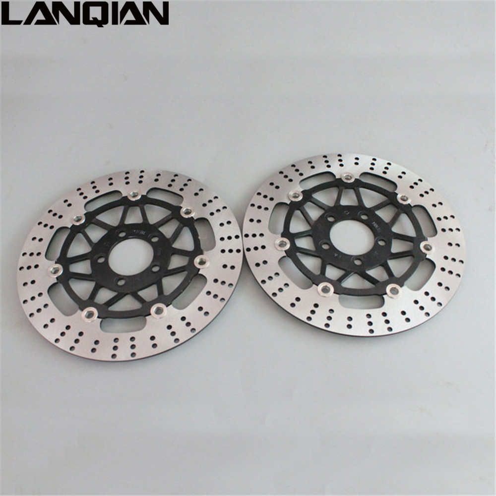 2PCS Motorcycle Front Floating Brake Disc Rotor For KAWASAKI ZZR400 1990 1991 1992 1993 1994 1995 1996 1997 1998 1999 ZZR 400 rear brake disc rotor for 600 ducati monster city dark ss supersport 1991 1992 1993 1994 1995 1996 1997 620 monster 2005 2006