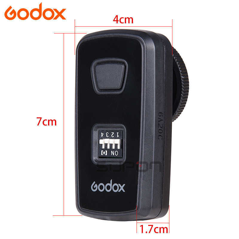 GODOX DM-16 Wireless Studio Flash Trigger Transmitter สำหรับ GODOX DMR-16 สำหรับ Canon Nikon Olympus Pentax DSLR กล้อง