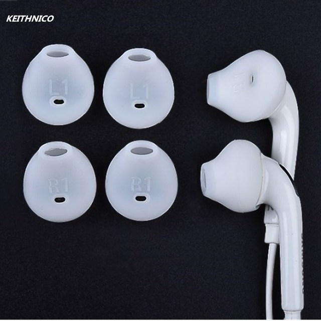 e41d6454015 3 Pairs For Samsung Galaxy Note 5/Note 7/S7/S6 Edge White/Black Silicone Earbuds  Tips Covers Anti-Slip Replacement Ear Gels Buds