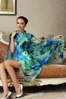 Summer style plain viscose hijab military tartan scarf Women's Silk Scarves Shawl Long Blue and Coffee silk penguin pashmina