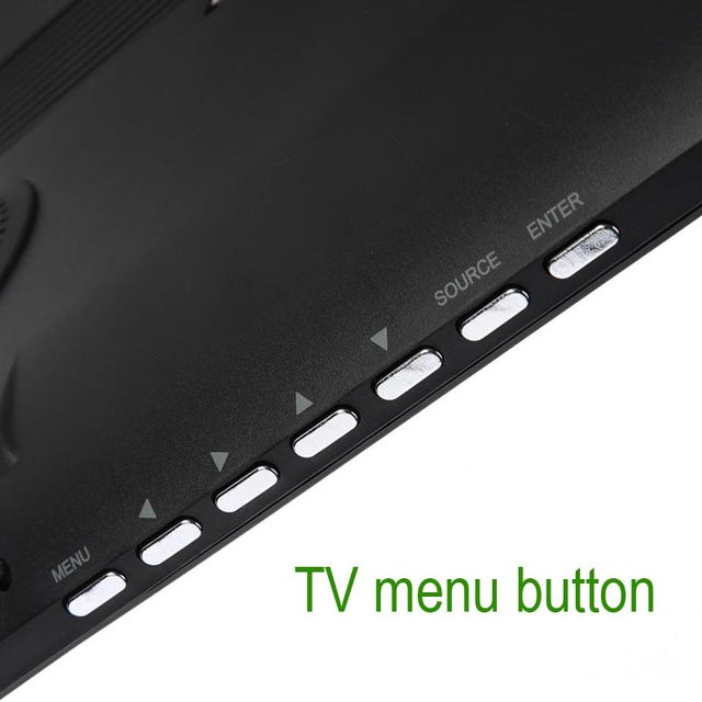 HD Portable TV 14 Inch Digital And Analog Led Televisions Support TF Card USB Audio Car Television  HDMI Input DVB-T DVB-T2 AC3