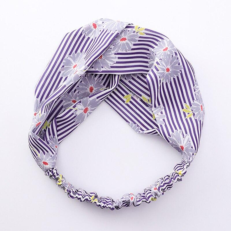 Cute Print Hair Bands Headbands Retro Cross Turban Bandage Bandanas HairBands Women Girls Hair Accessories Headwrap
