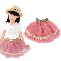 Summer Style Cute Girl Kids Clothing Skirt Fashion With Pearl Lace Princess Tutu Skirts Elegant Net Yarn Pettiskirt Cake Skirt