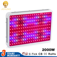 2000W LED Grow Light Double Chip 200leds*10w chip AC85 265V Full Spectrum Indoor Plant Lamp For Plants Veg Light Growing tent BJ