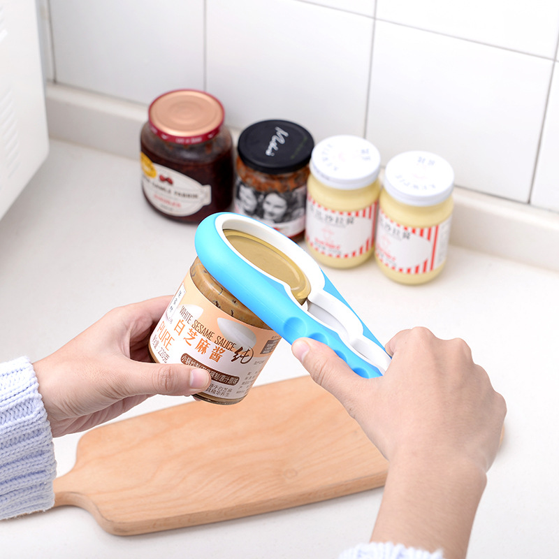 4 in 1 Multifunction Screw Cap Jar Bottle Wrench Creative Gourd-shaped Can Opener Screw Kitchen Tool