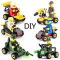 12 pçs/lote blocos kazi racing compatível legoe educacional diy bricks brinquedos play móvel