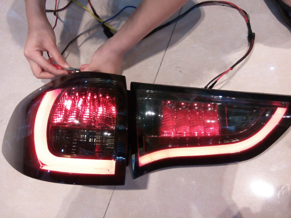 Free shipping For VLAND Car tail lamp for PAJERO Sports LED taillight 2011-2015 free shipping vland factory car parts for camry led taillight 2006 2007 2008 2011 plug and play car led taill lights