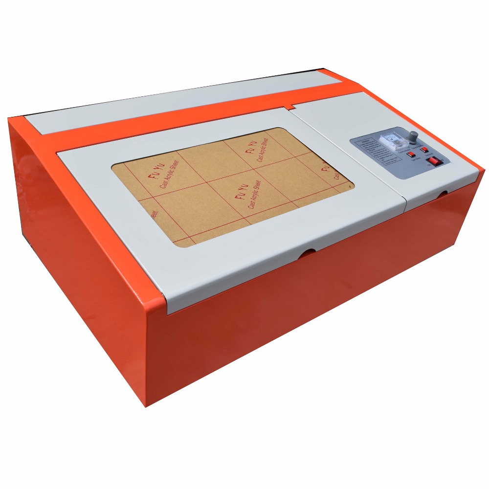 40W CO2 USB Laser Engraving Cutting Machine 300x200mm Engraver Cutter Wood working Crafts