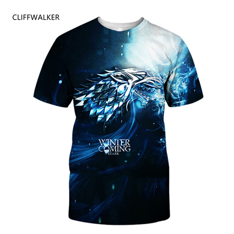 New 3D Print O-neck T-shirts For Mens Womens Cool Creative Star Wars Super Hero Game Of Thrones Hot Style Tops Drop Shipping
