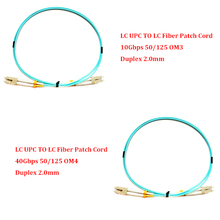 5 Pieces 1.0 Meter LC UPC TO LC UPC 10Gbps OM3/ 40Gbps OM4 MM 50/125 Multi Mode Optical Fiber Patch Cord Duplex 2.0mm