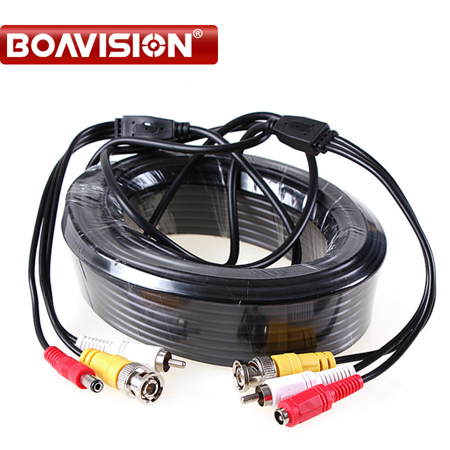 5M / 10M / 20M / 30M Audio Video Power AV Black Cable BNC Connector Coaxial Cable for DVR CCTV Security Surveillance Camera 2pcs 2m 6feet bnc rg59 cctv video coaxial patch cable for camera