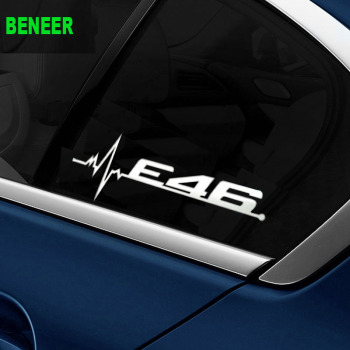 M power performance E30 E36 E46 E90 E91 E92 LOGO car windows sticker Car sticker for BMW 3 series 316i 320i 325i 328i 330i 335i image