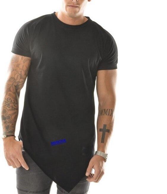 de5eaa6af1b 2015 Hot sale Long Back Zipper Streetwear Swag Man Hip Hop Skateboard Tyga T  shirt T shirt Top Tees Men Clothing extended tee-in T-Shirts from Men's ...